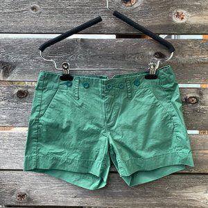 Urban Outfitters Cotton Poplin Green Shorts NWT
